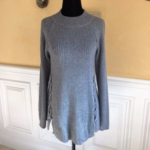 Stylish Grey Crew Neck Sweater